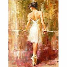 Dancing Girl Painting By Numbers Acrylic Canvas Pictures Wall Art Garden Decors