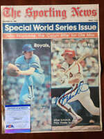Mike Schmidt PSA DNA Coa Hand Signed 1980 Vintage Sporting News Cover Autograph