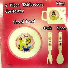 Disney Princess Mealtime Dinnerware Set Includes Bowl,Mug, & Flatware-New in Box