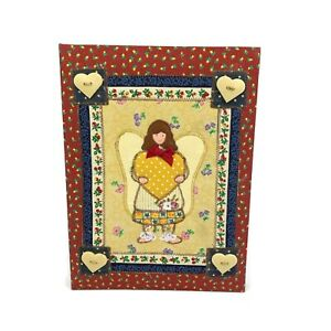 Country Angel Photo Album 4x6 Quilted Cloth 90 Photos Tri-Fold Slip-In Red New