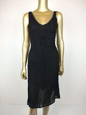 SABATINI DRESS BLACK FITTED KNIT DRESS - XS
