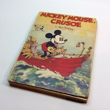 Vintage MICKY MOUSE CRUSOE Book