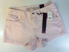 NEW DOLLHOUSE High Waist Shorts Size 13 Light Pink Stretch Color Denim Zip Pants