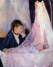 Cradle by Berthe Morisot CANVAS Wall Art Poster Print Home Decoration Small 8x10