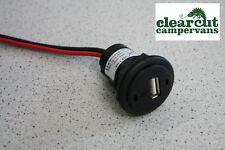 12v USB Socket for Campervans, Motorhomes VW T5 campervan USB Charging Socket