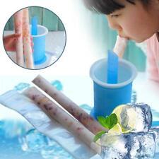 20PCS/SET Baby Reusable Freezen Squeeze ICE POP Pouches Food Storage Bag LG
