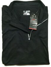 Under Armour Men's 2XL 1/4 Zip Pullover Golf Shirt Loose Fit Long Sleeve Black