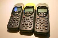 3 x Handy Mobilteile für SAGEM Mistral 40 Telefon ~LESEN~