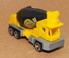 Hot Wheels Die Cast Cement Ready Mix Truck in Yellow & Black