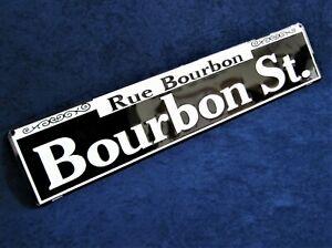 BOURBON STREET -*US MADE*- Embossed Metal Street Sign Man Cave Garage Bar Décor