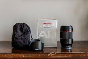 Samyang 35mm 1.4 prime lens for sony e-mount AF FE, good used condition