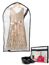 Dance Costume Bag + Mini Bag - Children's Garment Bag for Dance - Clear Medium