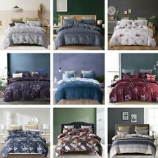 2/3 Piece Duvet Cover Set Quilt Bed Cover Bedding Set Twin/Queen/King Microfiber
