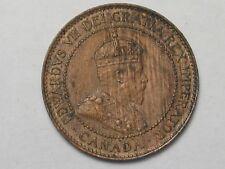 1903 AU/Unc Canadian Large Cent Coin. Edward VII. CANADA.  #33