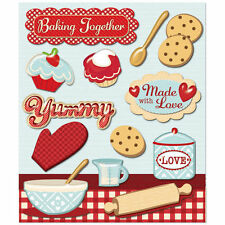 K&COMPANY STICKER MEDLEY BAKING TOGETHER COOKING KITCHEN FOOD SCRAPBOOK STICKERS