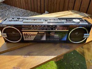 Vintage 1980s Sharp WQ-562 Stereo Radio Cassette Recorder Boombox