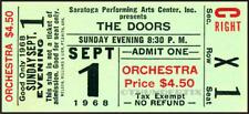 1 1968 THE DOORS VINTAGE UNUSED FULL CONCERT TICKET SARATOGA NY laminated repro