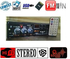 Car Home Stereo Audio Amplifier MP3 Music Player USB, FM Radio, Aux IN