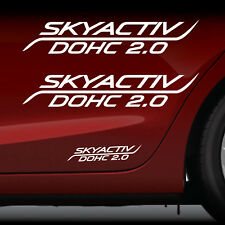 Mazda 3 graphic 2X decal sticker vinyl Skyactiv 2.0 fits Mazda 3 *WHITE