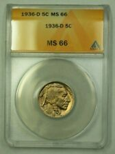 1936-D Buffalo Nickel 5c ANACS MS-66 (D) (WW)