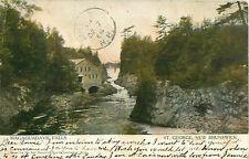 1906 Magaguadavic Falls River Gorge St. George New Brunswick Souvenir Postcard
