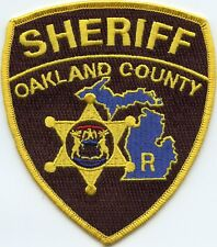 OAKLAND COUNTY MICHIGAN MI State Seal RESERVE SHERIFF POLICE PATCH