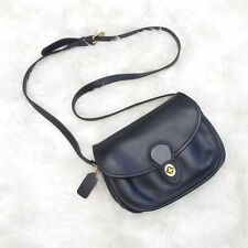 COACH Vintage Prairie Crossbody Satchel Leather Classic Minimalist Black 9954