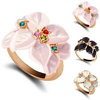 FT- Women's Fashion Beauty Flower Pattern Party Alloy Ring Jewelry Gift Candy