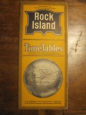 DEPLIANT *ROCK ISLAND LINES*  TIME TABLES - ENGLISH - 1914 - FOLDING