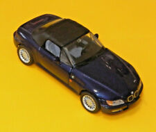 BMW Werbemodell (SCHUCO?) BMW Z3 Cabrio mit Softtop, DUNKELBLAU, 1/43, mint