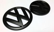 VW MATT BLACK GRIGLIA FRONTALE POSTERIORE BOOT badge emblemi GOLF MK7 MK VII GTI TDI TSI R