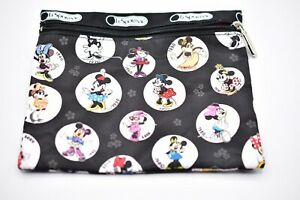Lesportsac Pouch Single Zip Case Organizer Minnie Mouse Through Decades Disney