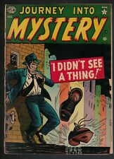 Atlas MARVEL Comics 2.5 Journey into mystery 3 1952 G+  I DIDN'T SEE THING