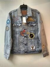 LEVI'S Limited Edition Patch Graffiti Trucker Jacket Size M California NWT $400
