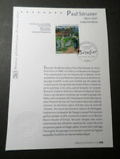 FRANCE 2007 NOTICE FDC TABLEAU SERUSIER, PAINTING, 1° JOUR