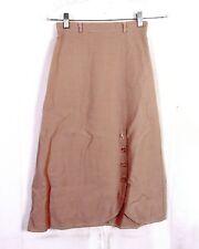 vintage années 70 rétro solide beige CRAYON / Ligne-A coton laine mélangée
