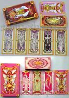Anime Two Sets Cosplay 52+56 Cards Captor Sakura Clow Cards Dlassic Cartoon Gift
