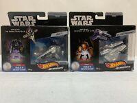 star wars hot wheels starships- eta-2 jedi starfighter- slave 1  lot of 2
