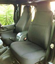 Jeep Wrangler TJ neoprene seat cover Sport Rubicon Front set Black 2003-06 FS2FR
