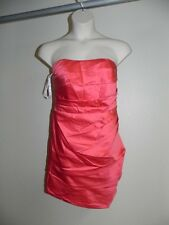 Davids Bridal Dress Plus Size 18 Guava F14212 Strapless Bridesmaid Prom NWT $139