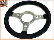 "13"" Alcantara Suede Style Classic Car Steering Wheel MG, Ford, Mini, Triumph etc"