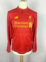 Liverpool FC 2016/2017 NB Home Football Shirt L/S Red Men's Medium Soccer
