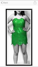 Women Tinkerbell Costume Lined New Size Small  Great For Halloween Or Parties