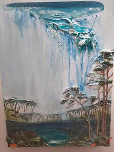 🔥CLOUDBURST 30A🔥 BY JUSTIN GAFFREY ART FL 30 IN X 40 IN ACRYLIC ON WOOD PANEL