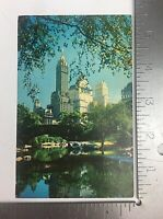 Vintage Postcard Posted Central Park and Fifth Avenue Hotels NY City New York