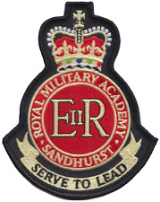 British Army Royal Military Academy Sandhurst Embroidered Patch Badge