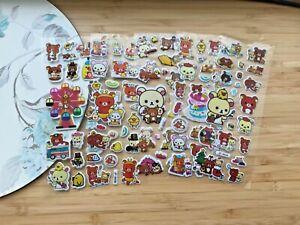 Rilakkuma Bear cartoon foam stickers Fun Kids Party Loot bag filler Cute