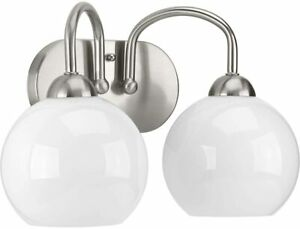 Progress Lighting P300085-009 Carisa Bath & Vanity, Nickel