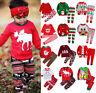 Christmas Kids Baby Boys Girls Xmas Pj's Sleepwear Nightwear Pajamas PJS Set