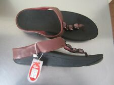 "Fitflop ""Rola""  Leather Sandals...Hot Cherry. Size US 10 EU 42. New. $169.95"